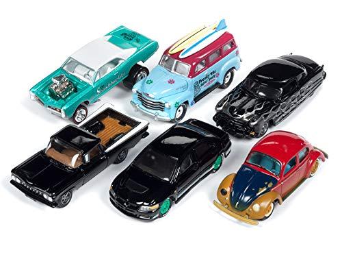 Street Freaks 2018 Release 4 Set B of 6 Cars 1/64 Diecast Models by Johnny Lightning JLSF010 B
