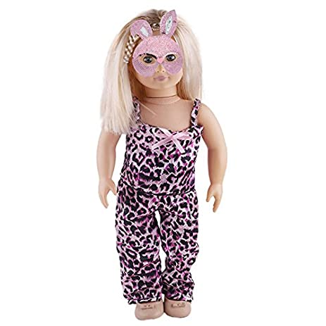 aimee leopard print halloween doll outfit zebra leggings tank top 2 piece outfit for