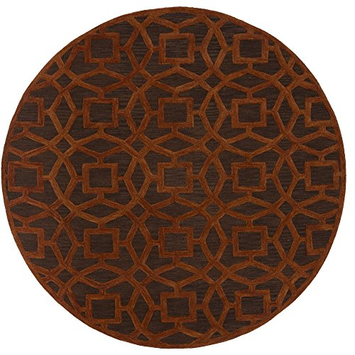 - Surya Dream DST-1172 Hand Tufted 100-Percent New Zealand Wool Round Geometric Area Rug, 8-Feet