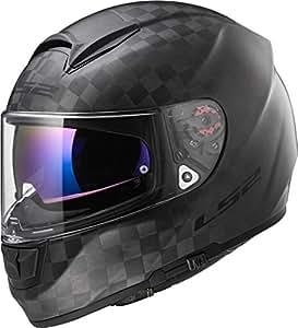 LS2 - Casco de moto FF397 Vector CT2 Carbon, Matt Carbon, talla S
