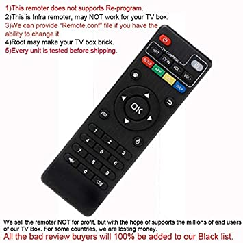 Calvas IR Infra Remote Controller Replacement for Android TV Boxes