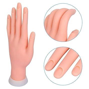 Mano para Practicar Uñas Articulada Flexible Suave Manicura Expositor de Esmaltes sin Uñas de Clavuz: Amazon.es: Belleza