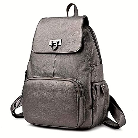 Amazon.com: Womens Backpacks Genuine Leather Students ...