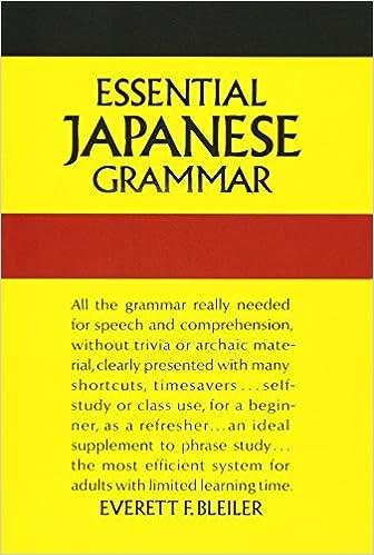 Book Essential Japanese Grammar (Dover Language Guides Essential Grammar)