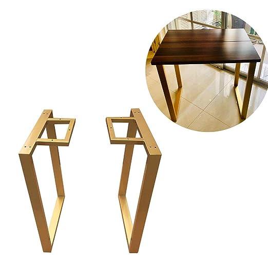 Furniture legs Patas de Mesa Industrial Dorado X2, Altura 88 cm ...