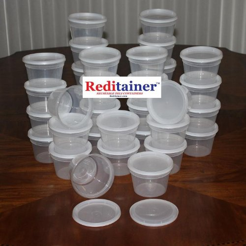 Reditainer Deli Food Storage Containers with Lid, 16-Ounce, 36-Pack