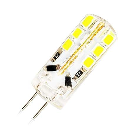 1 Bombillas G4 LED 12V 3W,24 x 2835 SMD Lámparas LED,260 Lumen