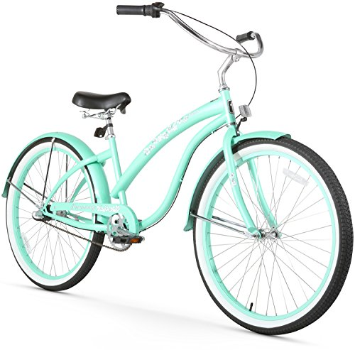 (Firmstrong Bella Classic 3-Speed Beach Cruiser Bicycle, 26-Inch, Mint Green)