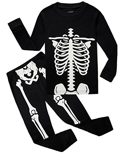 Family Feeling Baby Infant Boys Girls Skeleton Halloween Costumes Pajamas Sets Long Sleeve Kids Toddler Pjs Size 18-24 Months (Family Costumes Halloween)