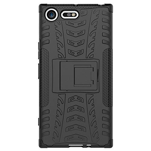 OFU®Para Sony Xperia XZ Premium 5.5 Smartphone, Híbrido caja de la armadura para el teléfono Sony Xperia XZ Premium 5.5 resistente a prueba de golpes contra la lucha de viaje accesorios esenciales d rojo