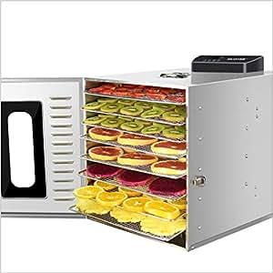 Secadora de alimentos, Deshidratador De Alimentos Redondo De 8 Bandejas, Máquina Eléctrica Profesional De