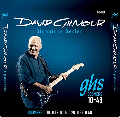 GHS Strings GB-DGF David Gilmour Signature Series, Nickel-Plated Electric Guitar Strings (.010-.048) (Elixir Electric Guitar Strings 10)