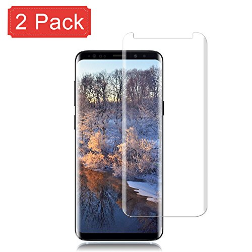 [2 Pack] Galaxy S9 Plus Screen Protector 9H Hardness/Anti-Scratch/Anti-fingerprint/3D Curved/High Definition/Ultra Clear Tempered StinkLightGlass Screen Protector Compatible Samsung Galaxy S9 Plus