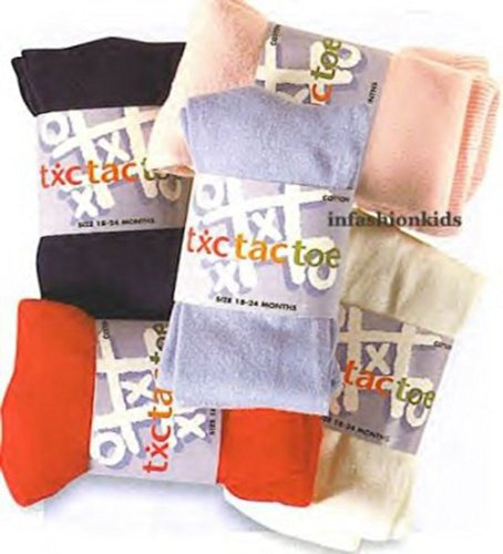 Tic Tac Toe Girls Heavy Cotton Tights Brown (12-24M)