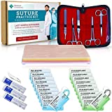 Suture Practice Kit by Medical Creations with Ebook Training Guide - Reusable Silicone Suturing Pad with Tool Kit Developed by Doctors - for Medical, Nursing, Vet Students