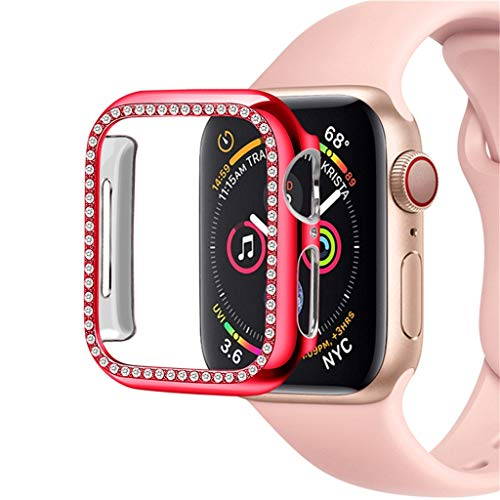 Sodoop Bling Protective Face Bumper Case Cove Compatible for Apple Watch 38mm 42mm 40mm 44mm,Diamond Crystal Shiny Rhinestone Plate Frame Compatible for iWatch Series 4 3 2 1