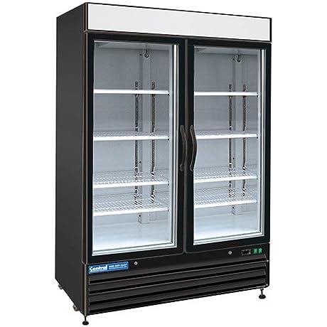 Central Exclusive 69K 058 48 Cu Ft Swing Glass Door Merchandiser Freezer 2 Doors 54 W