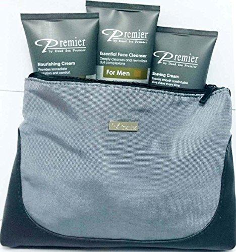 Premier Dead Sea Kit for Men-Nourishing,Shaving Cream,Cleanser 4.25 oz each tube