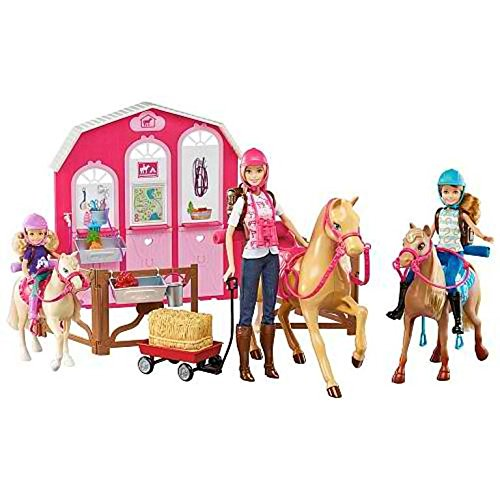 Barbie Pink Passport Horses and Ranch Giftset by Barbie