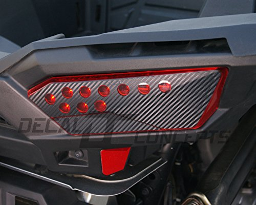 RZR 1000 Taillight Carbon Fiber Decal kit (Both sides)