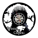 Vinyl Record Clock Game of Throne Theme Wall Decor Review