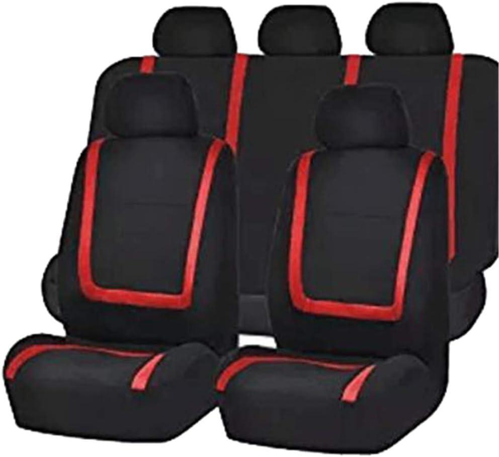 Polyester Auto-Sitzschoner Komplettset,Grau,Einheitsgr/ö/ße GUOCU Autositzbez/üge Set Universal Auto-Schonbez/üge f/ür die Vordersitze /& R/ückbank mit Airbag