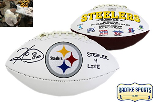 Hines Ward Autographed/Signed Pittsburgh Steelers Embroidered NFL Football With