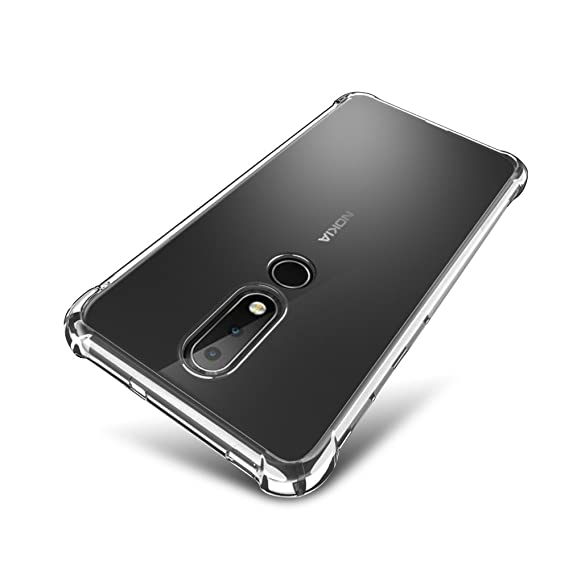 lowest price ffe8d f37c1 Nokia 6.1 Plus Case, Nokia X6 2018 Case - SLEO [Air Cushion] Flexible Soft  TPU Bumper Case with Shock-Absorption Back Protective Phone Cover for Nokia  ...
