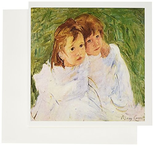 Sister Signed - 3dRose Photo Of Mary Cassatts Signed Painting The Sisters - Greeting Cards, 6 x 6 inches, set of 6 (gc_119365_1)