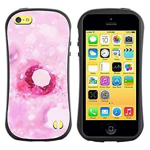 """Hypernova Slim Fit Dual Barniz Protector Caso Case Funda Para Apple iPhone 5C [Amor rosado del diamante del corazón""""]"""