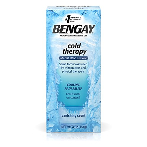 Bengay Cold Therapy Pain Relief Gel with Pro-Cool Technology, Cooling Pain Reliever for Muscle and Joint Pain, 4 (Muscle Therapy Gel)
