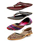 Zaiva Women's Synthetic Combo Of 4 Fashion Sandals -Ind/Uk-5 (Eu-38)
