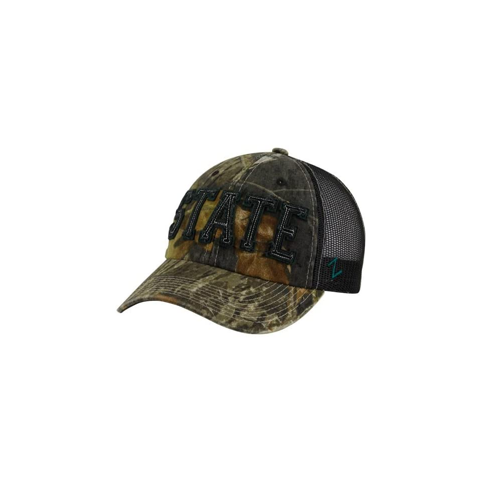 NCAA Zephyr Michigan State Spartans Mossy Oak Camo Decoy Adjustable Hat