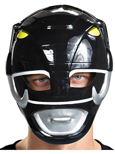 Disguise Costumes Black Ranger Vacuform Mask, Adult -