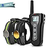 Boniten Dog Training Collar with Remote for 2 Dogs, 100% Waterproof Rechargeable Shock Collar with Beep/Vibration/Electric Shock Modes for Medium Large Dogs(10-100 lbs)[2018 Upgraded] (1200ft)