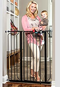 Regalo Deluxe Easy Step Extra Tall Gate, Black