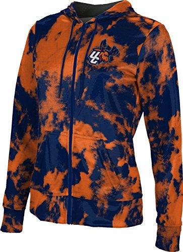- ProSphere Utica College University Women's Zipper Hoodie, School Spirit Sweatshirt (Grunge) FCFD2 Blue and Orange
