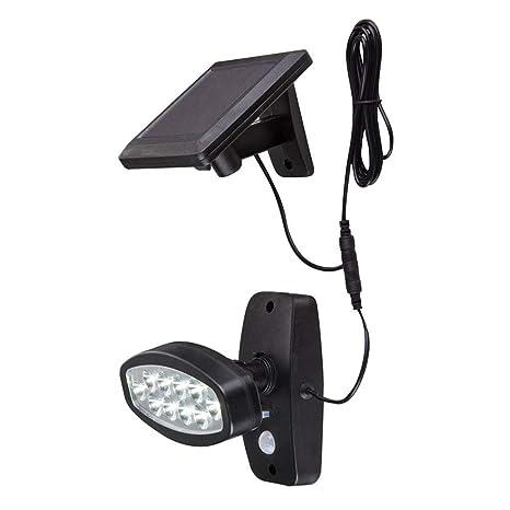 Ghair2 Luces solares con Sensor de Movimiento para Exteriores, 10 Luces LED con Sensor de