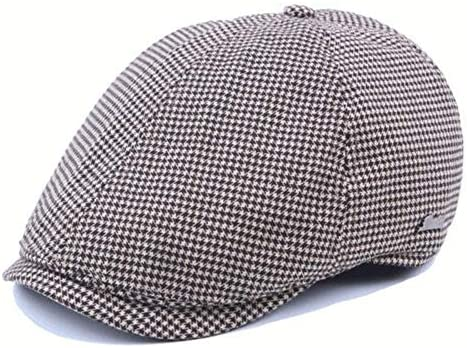 Invierno Beret Gorras de Boina de Rejilla de algodón for Hombre ...