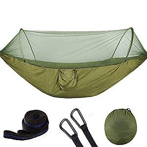 Fenghong Amaca Anti-zanzara, Amaca Altalena Amaca Paracadute in Tessuto Amaca Tenda da Campeggio con zanzariera - # 1, Mimetica 1 spesavip