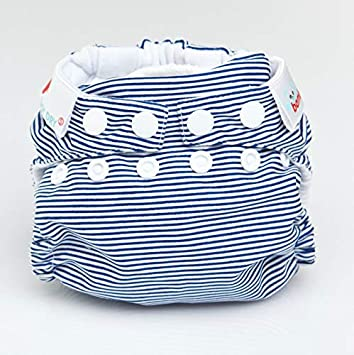 Latte Stripes Bambooty Reusable Nappy All in One Easy One Size Bamboo Organic Cotton Washable