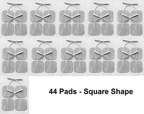 AcuZone 44 Square Shaped Electrodes for TENS Massage EMS Units, 2 x 2-Inch 51dllq 2BCWZL