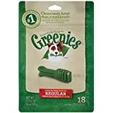 GREENIES Dental Chew Dog Treats, Regular, Original Flavor, 18 Treats, 18 oz.