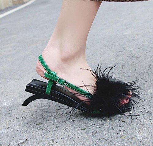 Green Heel scarpe strada Youth Color da Green Sweet da Fashion Sandali da DANDANJIE donna Dimensione con Pantofole comode 37 Profile scarpe qXR4PnxO