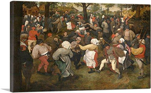 ARTCANVAS The Wedding Dance 1566 Canvas Art Print by Pieter Bruegel The Elder- 40