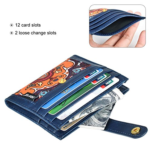 Front Pocket Wallet Credit Card Holder Card Wallet with Snap Bifold Card Case for Men & Women