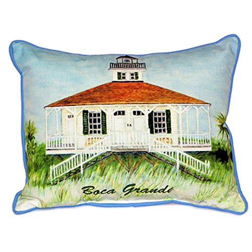 Betsy Drake Boca Grande Lighthouse Extra Large 20 X 24 Indoor / Outdoor Pillow