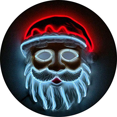 DZT1968  ChristmasLED Mask Glowing Cold Light Mask