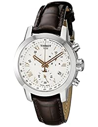 Tissot Women's T0552171603302 PRC 200 Analog Display Swiss Quartz Brown Watch