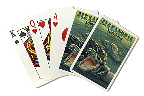 Alexandria, Louisiana - Alligators (Playing Card Deck - 52 Card Poker Size with Jokers)